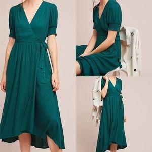 EUC Maeve Emerald Breanna Wrap Dress Sz 16